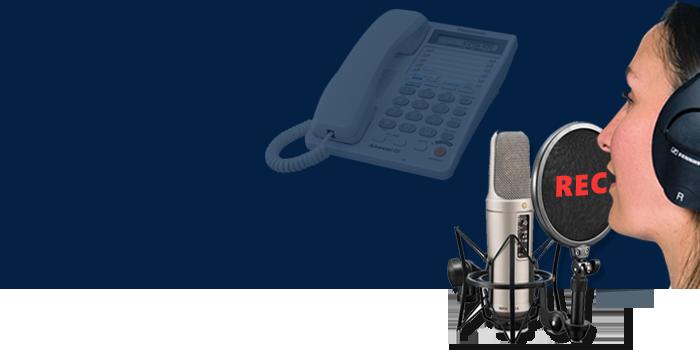 ضبط صدای استودیویی برای اپراتور تلفن گویا